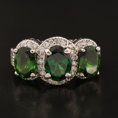 14K Diopside and Diamond Ring