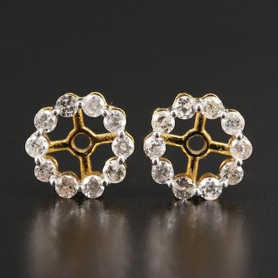 10K Diamond Halo Earring Jackets