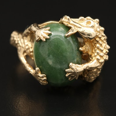 10K Serpentine Dragon Ring