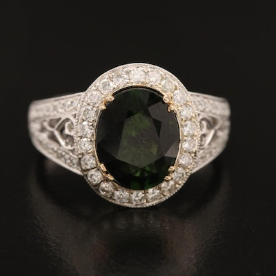 14K 2.71 CT Tourmaline and Diamond Ring