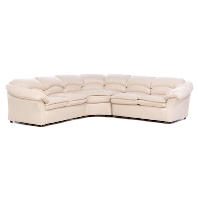 Century Furniture Three Piece Faux Leather Sectional Sofa, Late 20th Century