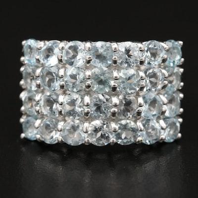 Sterling Aquamarine Ring