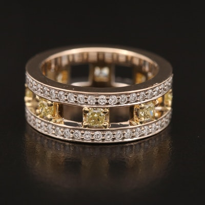 18K Pipe Cut 2.09 CTW Diamond Eternity Band