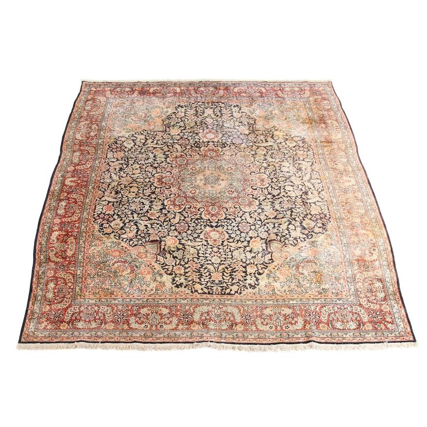 7'9 x 10' Hand-Knotted Sino Persian Tabriz Silk Rug, 2000s