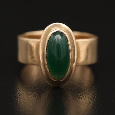 Vintage 14K Chalcedony Ring