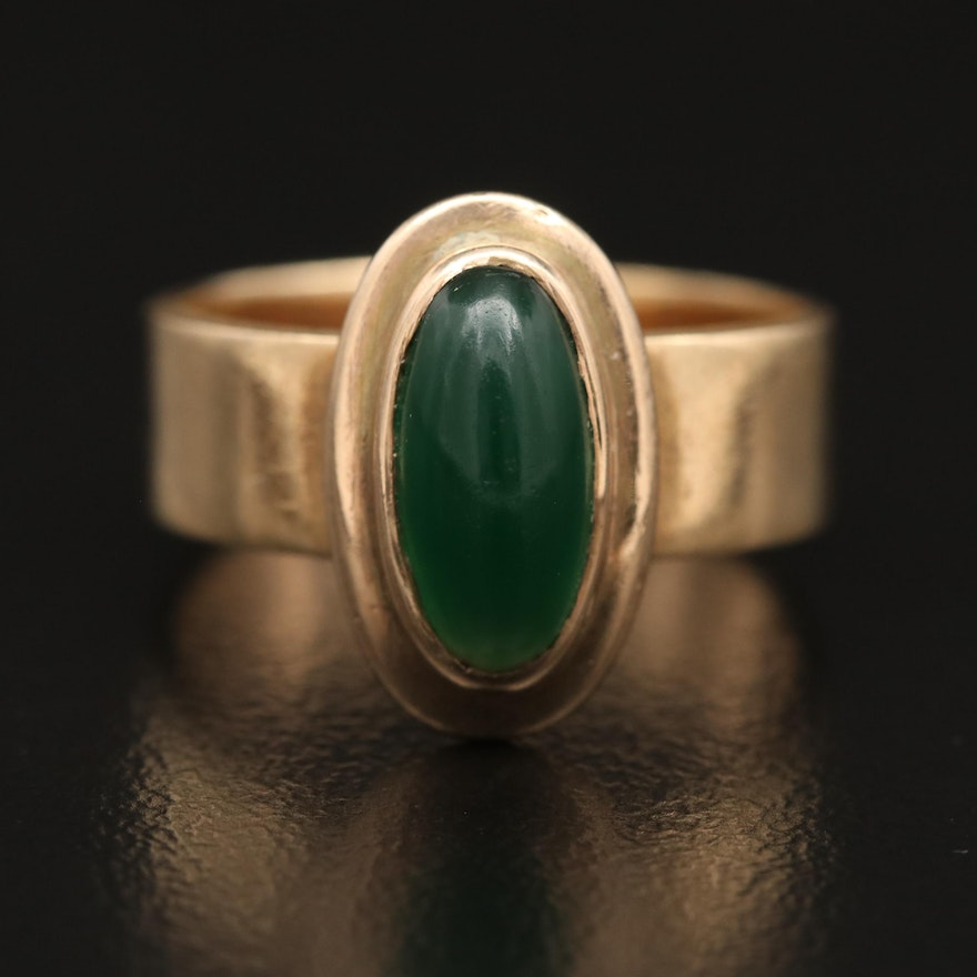 Vintage 14K Chalcedony Ring