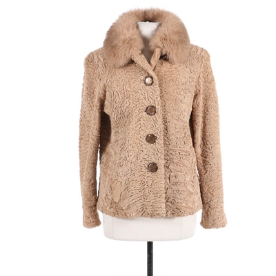 Curly Lamb and Fox Fur Jacket, 1950s/1960s
