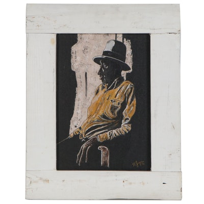 Robert Joyce Oil Portrait of Seated Man, 1978