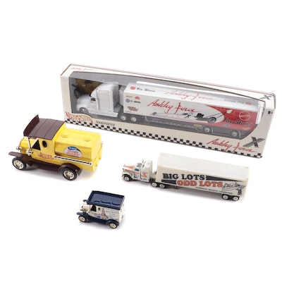 Pepsi Replica Trucks, Hot Wheels Ashley Force Transporter and More