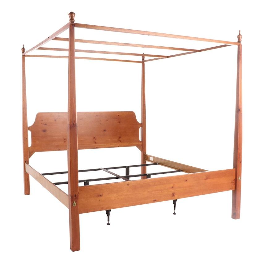 Leggett & Platt Size American Federal Style Four Post Tester Bed Frame