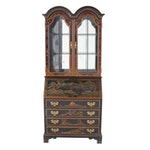 Jasper Cabinet Chippendale Style Lacquered and Paint-Decorated Secretary Desk