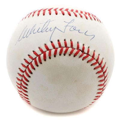 Whitey Ford Signed Rawlings American League Baseball