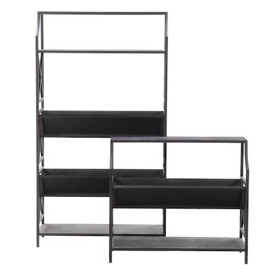eHemco V-Shape Metal Bookcase/Magazine Rack Units