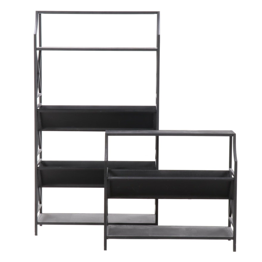 eHemco V-Shape Metal Bookcase/Magazine Rack Units