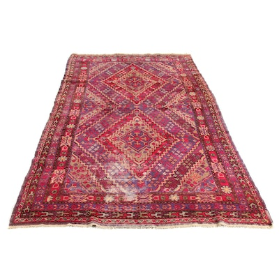 6' x 11'2 Hand-Knotted Persian Luri Rug, 1920s