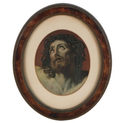 Chromolithograph of Ecce Homo, Early 20th Century