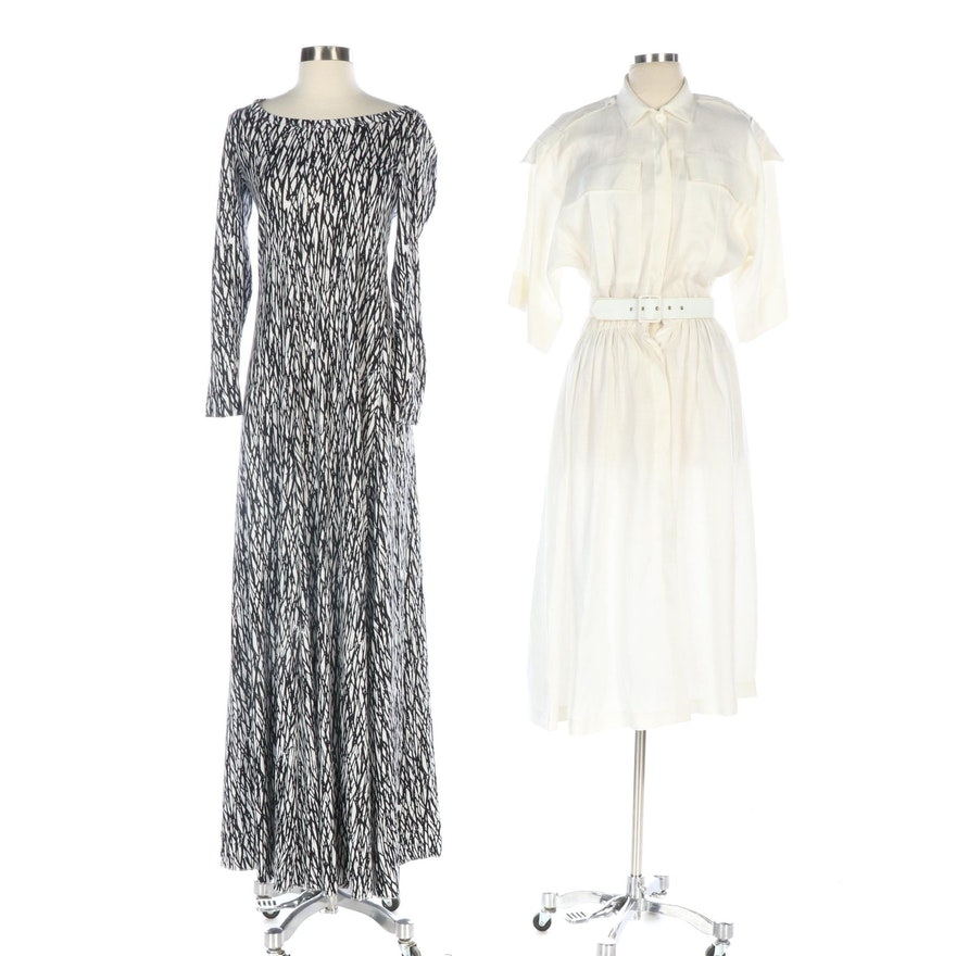 Diane Von Furstenberg and Oleg Cassini Dresses, Vintage