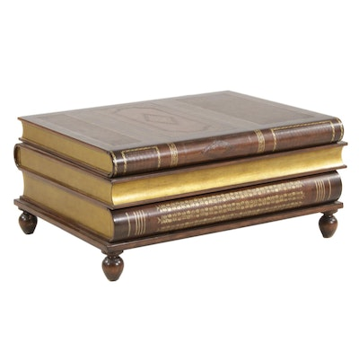 Maitland-Smith Stacked Book Storage Coffee Table with Drawers