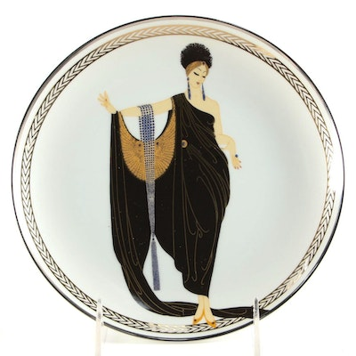 "House of Erte Porcelain ""Glamour"" Limited Edition  Collector's Plate"