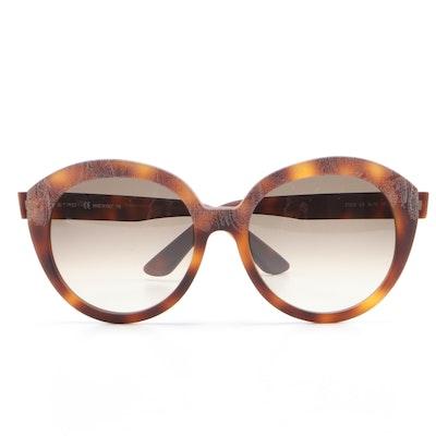 ETRO ET620S Matte Havana Paisley Sunglasses with Case