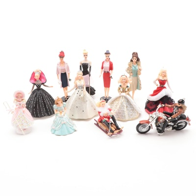 1998 Holiday Barbie and Other Barbie Keepsake Ornaments