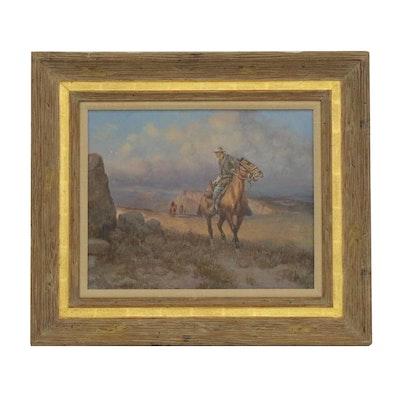 """Olaf Carl Wieghorst Oil Painting """"Cavalry Trooper 1880"""""""