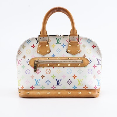 Louis Vuitton Alma PM Satchel in Studded Multicolor Monogram Canvas and Leather