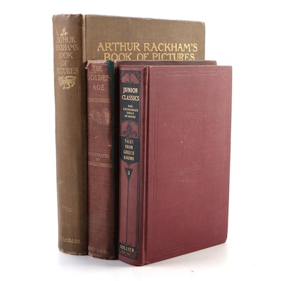 """1927 """"Arthur Rackham's Book of Pictures"""" and Others, Late 19th/Early 20th C"""