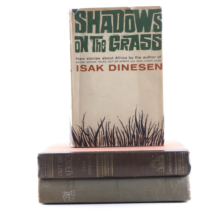 """First Edition Books by Isak Dinesen Featuring """"Out of Africa"""" and More"""