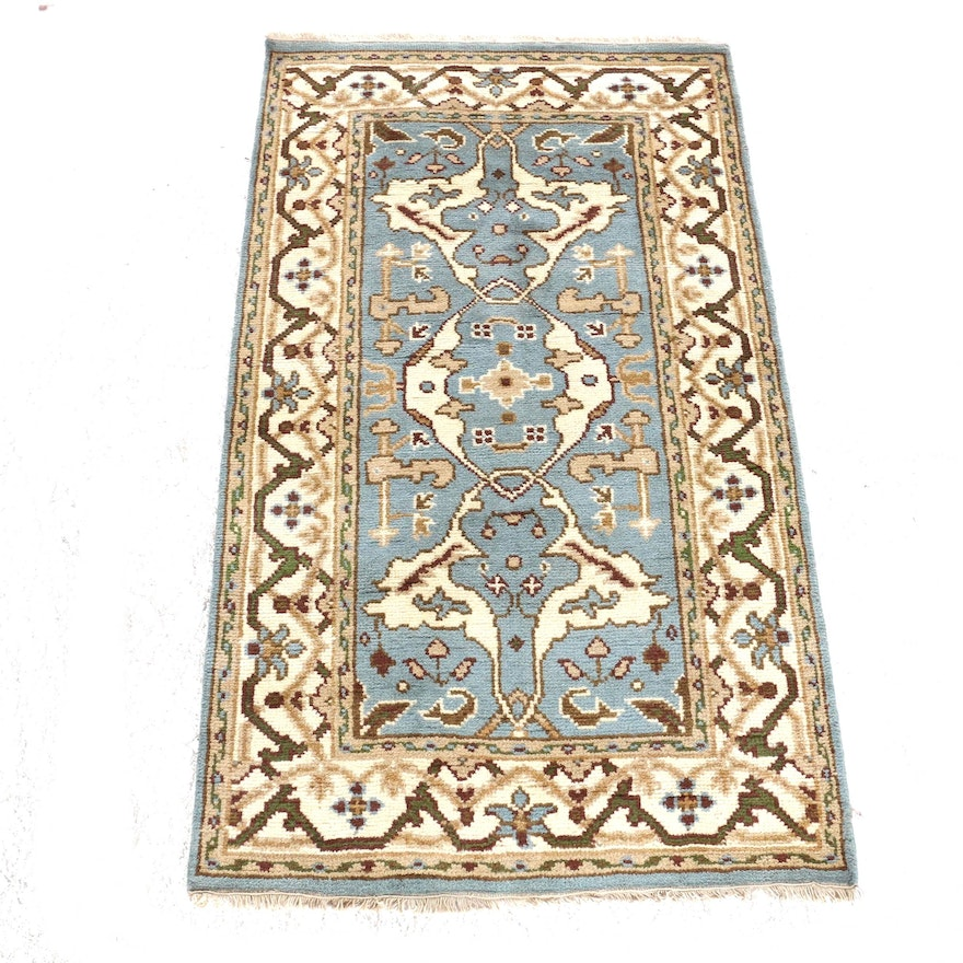3'0 x 5'5 Hand-Knotted Indo-Turkish Oushak Rug