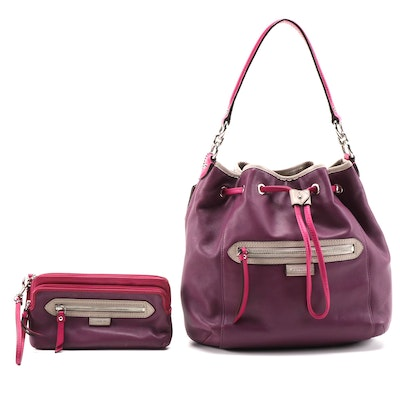 Coach Daisy Spectator Bucket Bag and Matching Wristlet