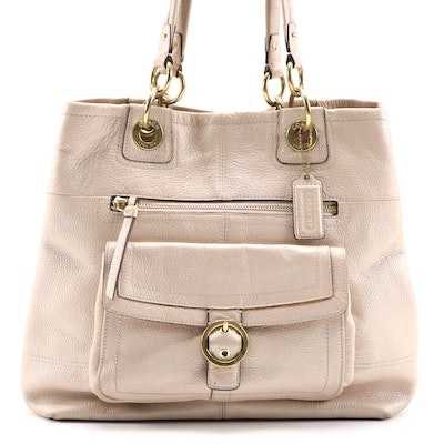 Coach Penelope Tote in Pearlescent Champagne Leather