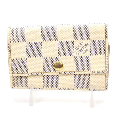 Louis Vuitton Six-Key Holder in Damier Azur Canvas