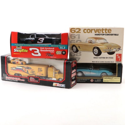 1957 Corvette and Other Diecast Model Cars and Model Building Kits