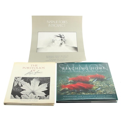 "Signed ""Reaching Home"" by Natalie Fobes with ""The Portfolios of Ansel Adams"""