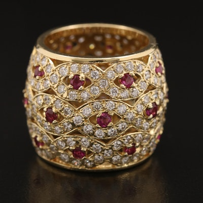 18K 3.78 CTW Diamond and Ruby Band