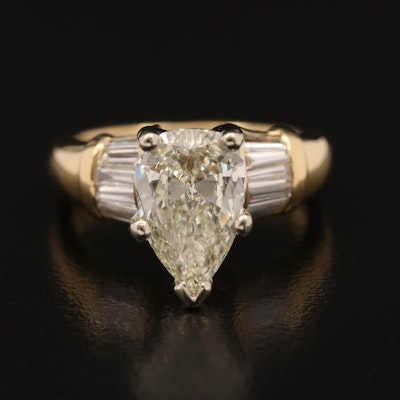 18K 2.26 CTW Diamond Ring with 14K Head