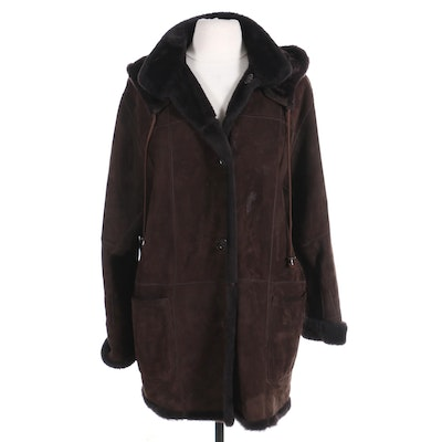 Dominic Bellissimo Women's Reversible Suede and Shearling Coat
