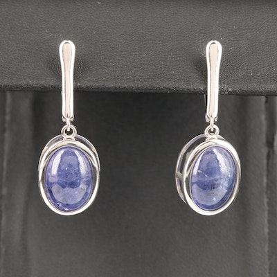 Sterling Silver Tanzanite Dangle Earrings