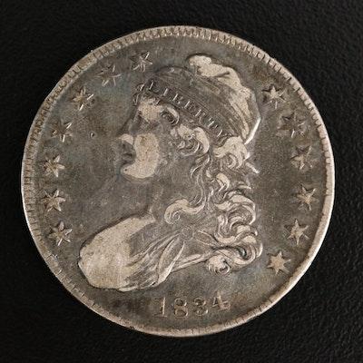 1834 Capped Bust Half Dollar
