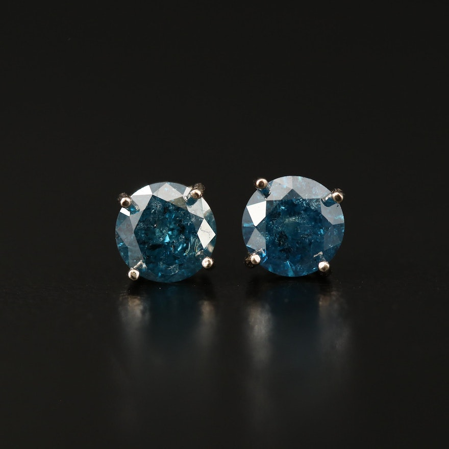14K 1.76 CTW Diamond Stud Earrings