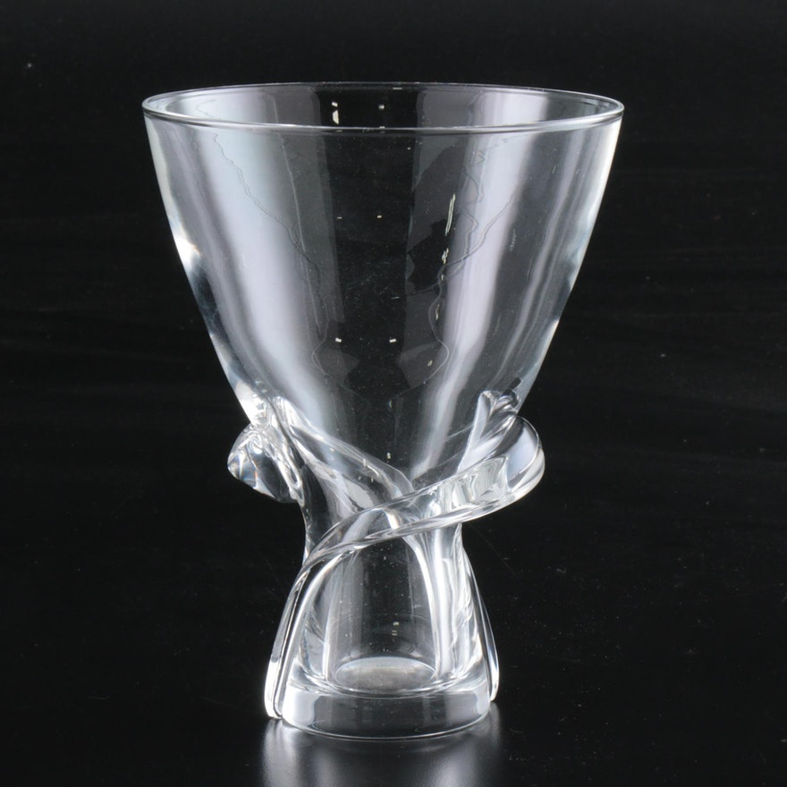 "Steuben Art Glass ""Spiral"" Vase Designed by Donald Pollard, 1950s"