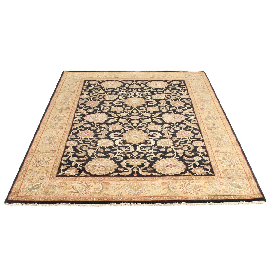 6'1 x 9'1 Hand-Knotted Indo Persian Tabriz Rug, 2000s
