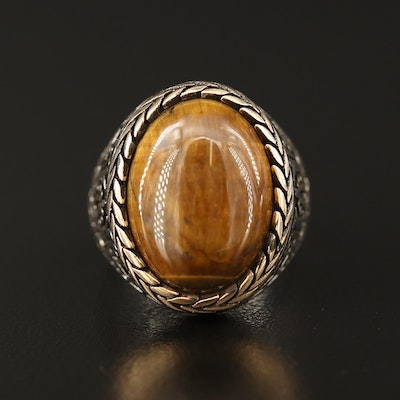 Sterling Tiger's Eye Ring