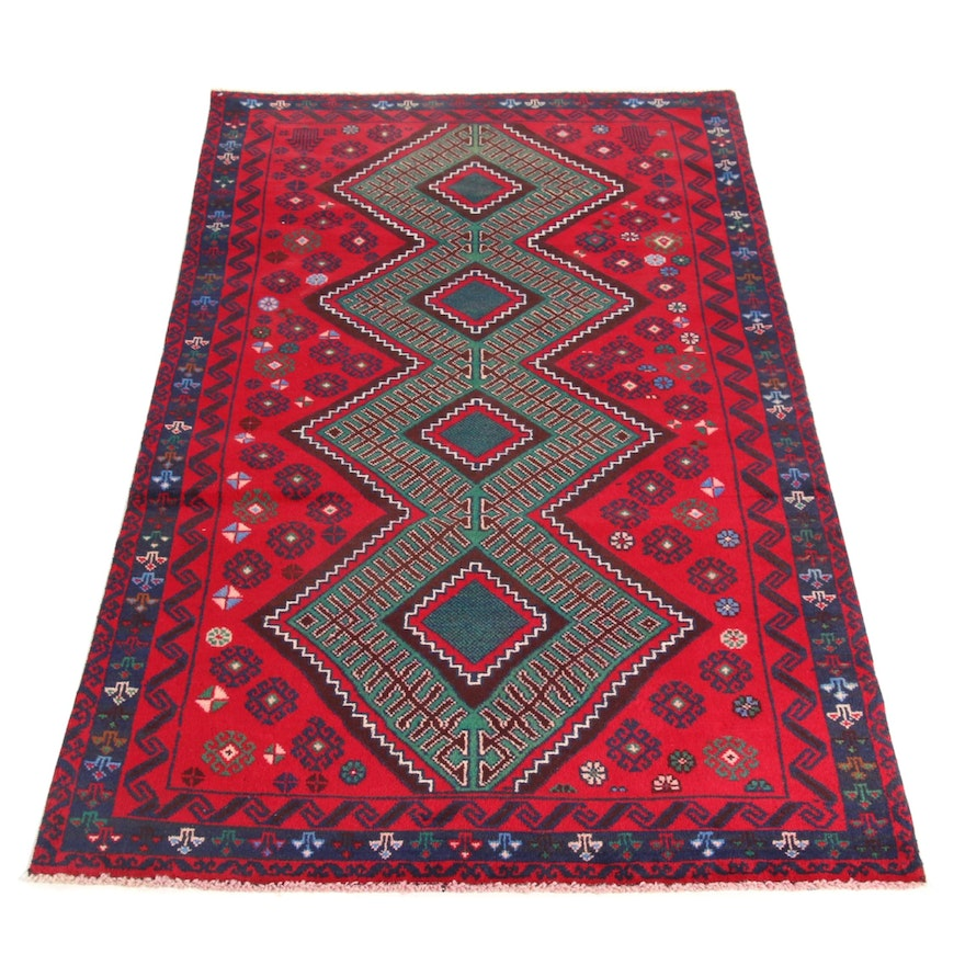 3'4 x 6'5 Hand-Knotted Persian Balouch Rug, 2000s
