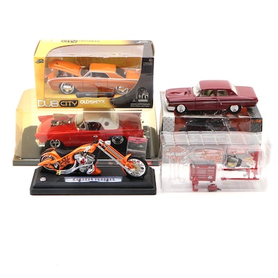 1963 Ford Thunderbird and Other Model Cars and Motorcycles