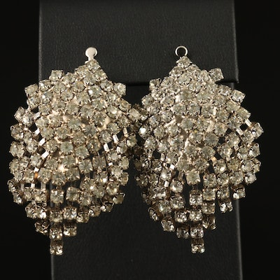 Vintage Rhinestone Fringe Convertable Earrings