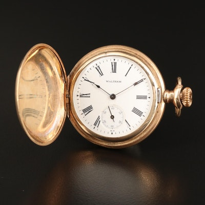 1902 Waltham Gold Filled Hunting Case Pocket Watch