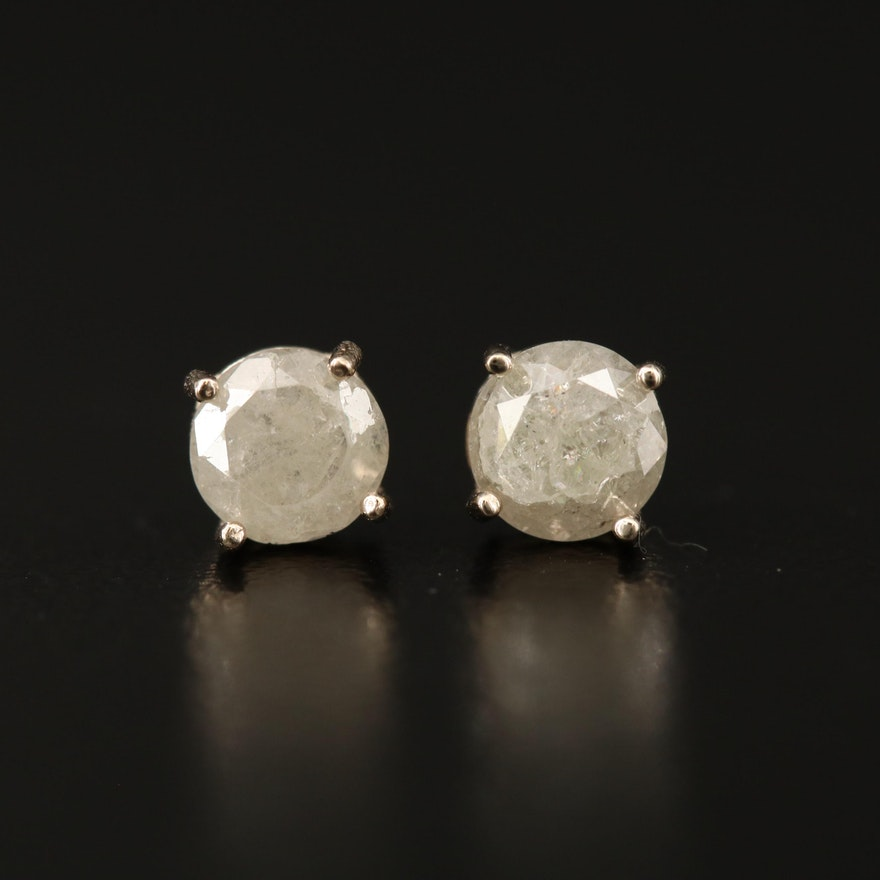 14K 1.12 CTW Diamond Stud Earrings