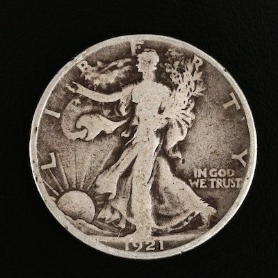 Key Date Low Mintage 1921-S Walking Liberty Silver Half Dollar